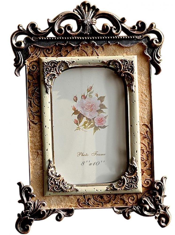 Giftgarden Shabby Chic Photo Frame 10x8 European Royal Engraved ...