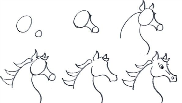How to draw a cartoon Arabian horse step by step at ...