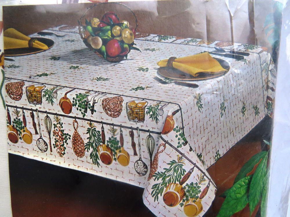 Pin By Shabbyshopgirls On Vintage Tablecloths Napkins Vinyl Tablecloth Vintage Table Vintage Kitchen