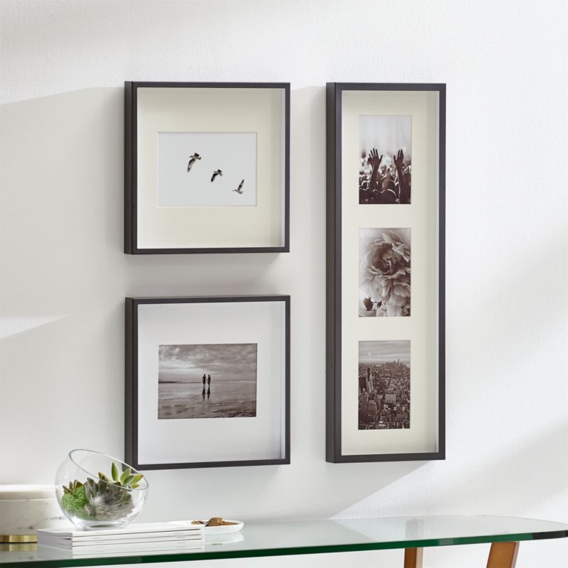 Brushed Gunmetal Picture Frame Gallery Set Of 3 Picture Frames Decor Living Room On A Budget