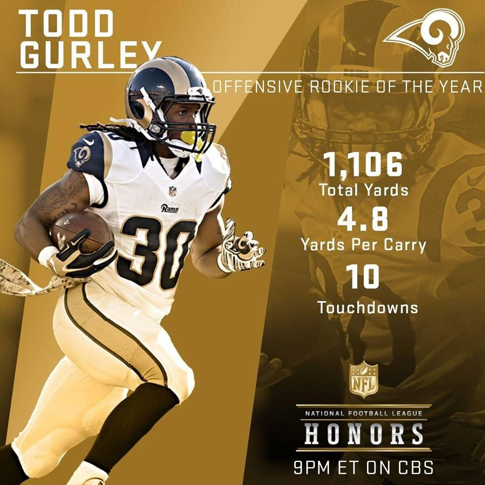 Offensive Rookie Of The Year Rams Todd Gurley Todd Gurley