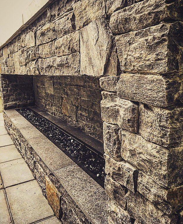 Stone #fireplace build completed Had fun working with this - program proposal template