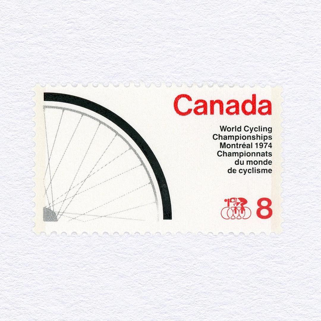 1974 World Cycling Championships, Montreal (8¢). Canada, 1974. Design: Robert Burns. #mnh #graphilately
