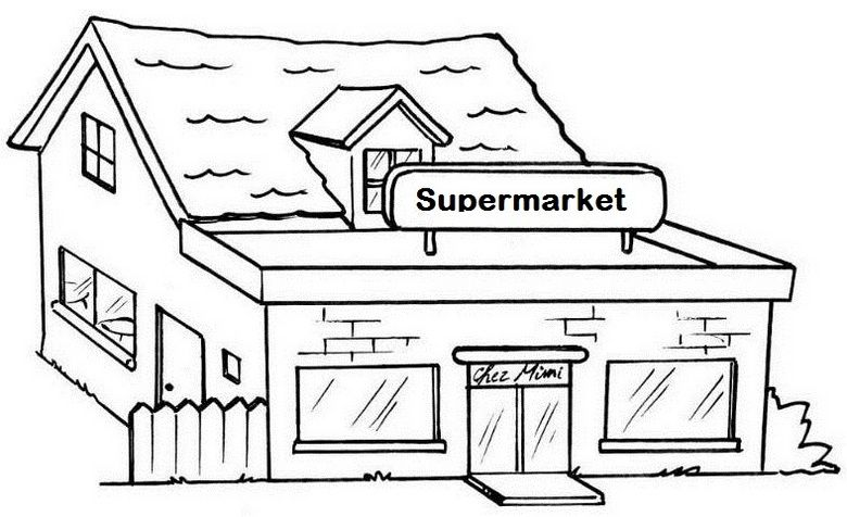 Top 10 Supermarket Coloring Pages For Children In 2020 Coloring