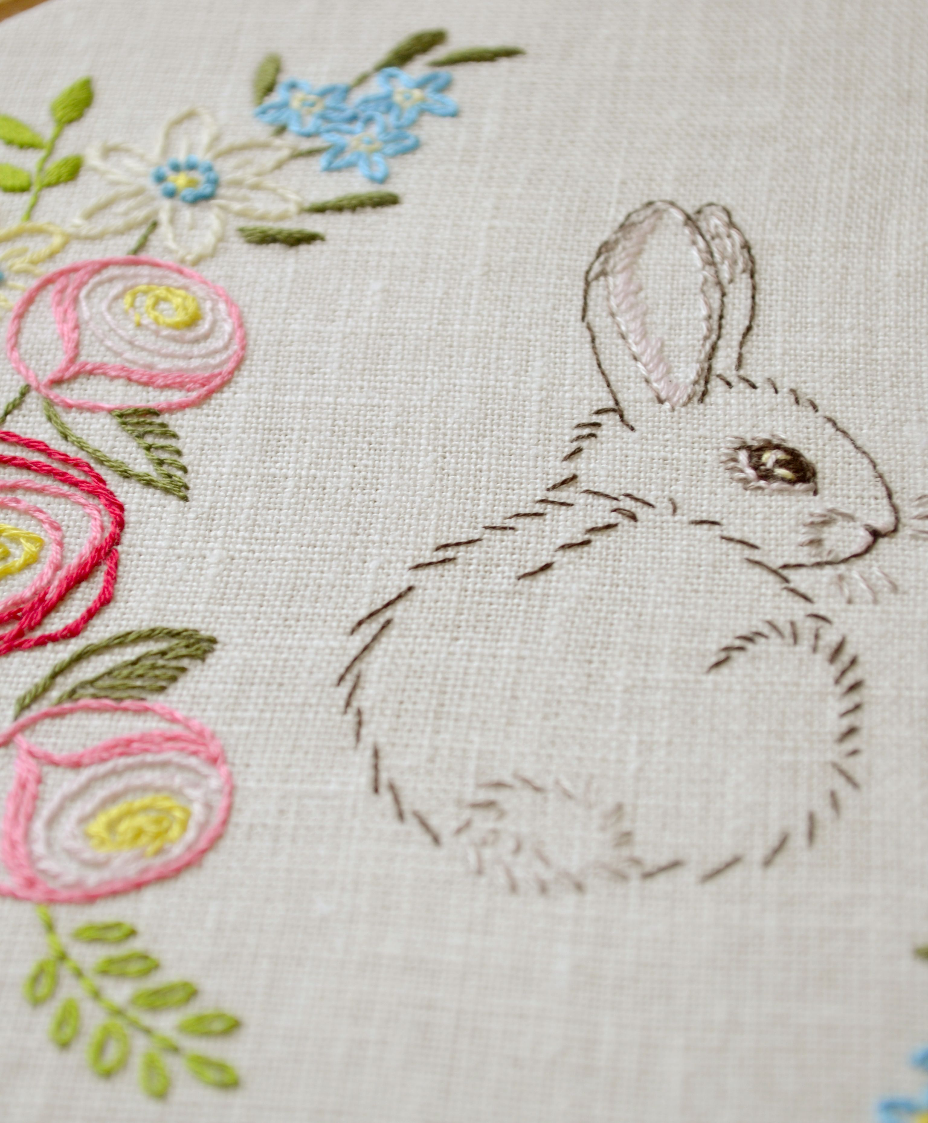 Hand embroidery pattern • PDF • Easter bunny • NaiveNeedle   hímzés ...