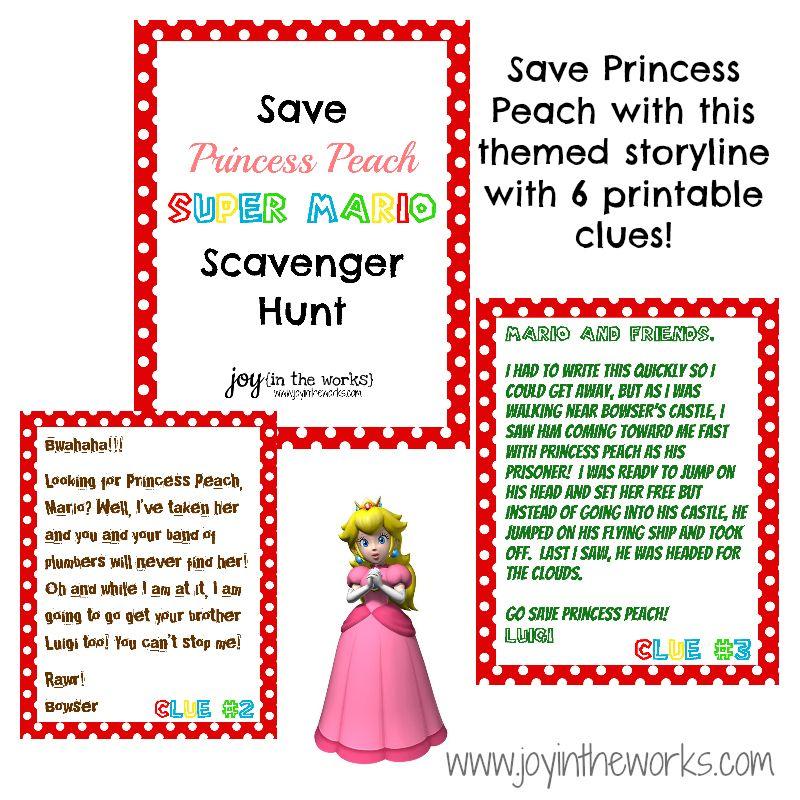 Save Princess Peach Scavenger Hunt