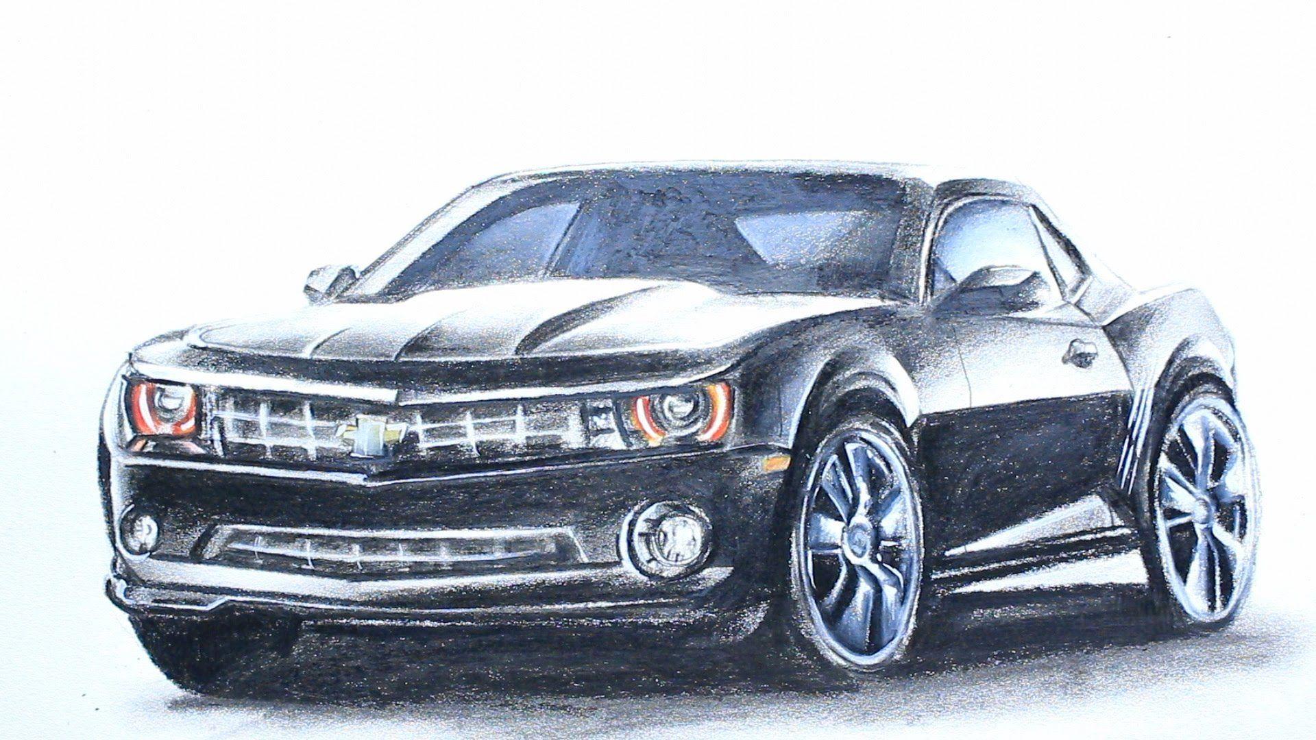 Art Videos, How to Draw a Chevrolet Camaro | My Art Videos | Pinterest