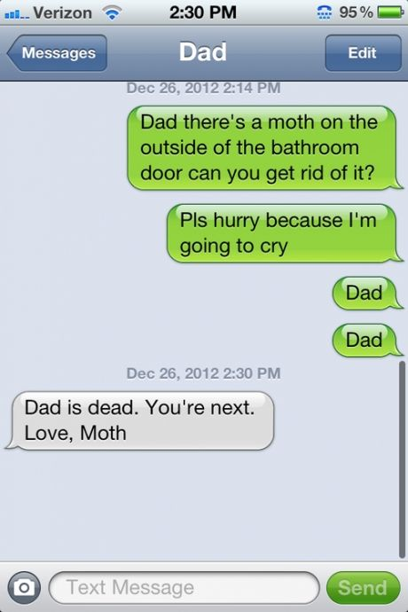 Bahahaa, my Dad would totally do this.
