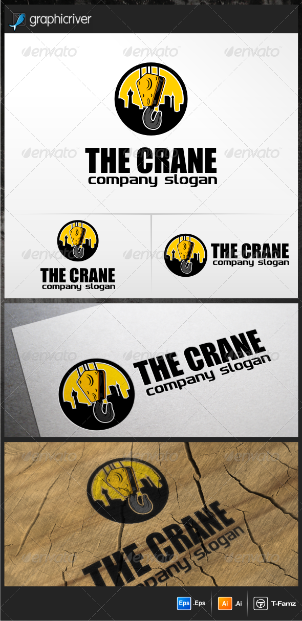 crane logo templates vector eps tow crane available here