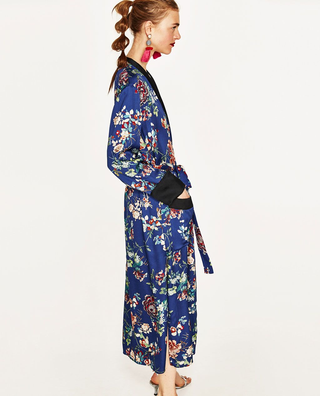 97f3a0a91bdc Image 4 of LONG FLORAL PRINT KIMONO from Zara | S/S 17 in 2019 ...
