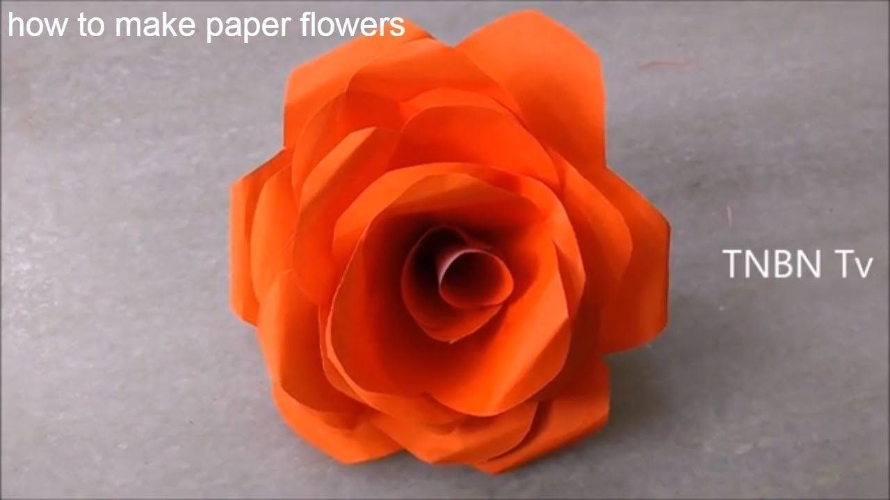 How To Make Paper Flowers Easy Origami Flower Simple Life Hacks