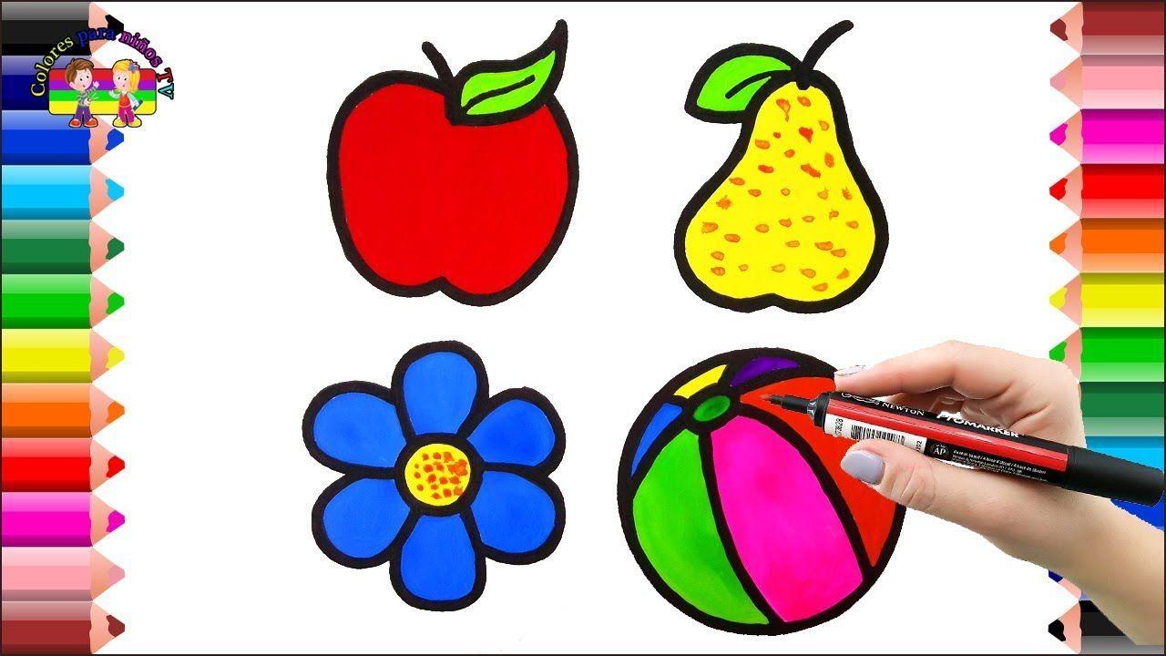 Dibujos de bebé frutas flores de juguete para colorear páginas para ...