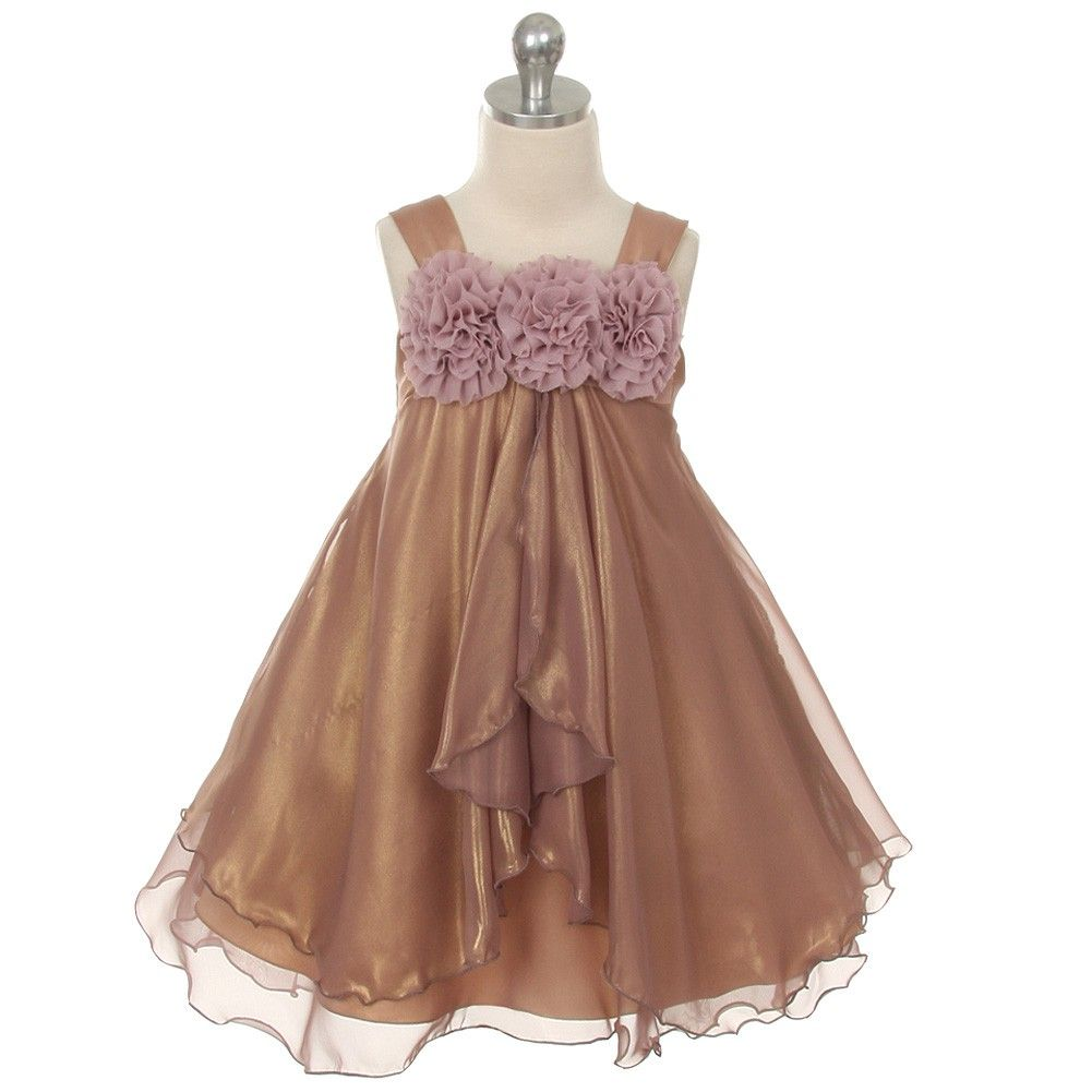 Kids dream mauve chiffon special occasion dress toddler girl tt