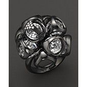 Di MODOLO Icona Cluster Ring with Pave Diamonds and Rock Crystal