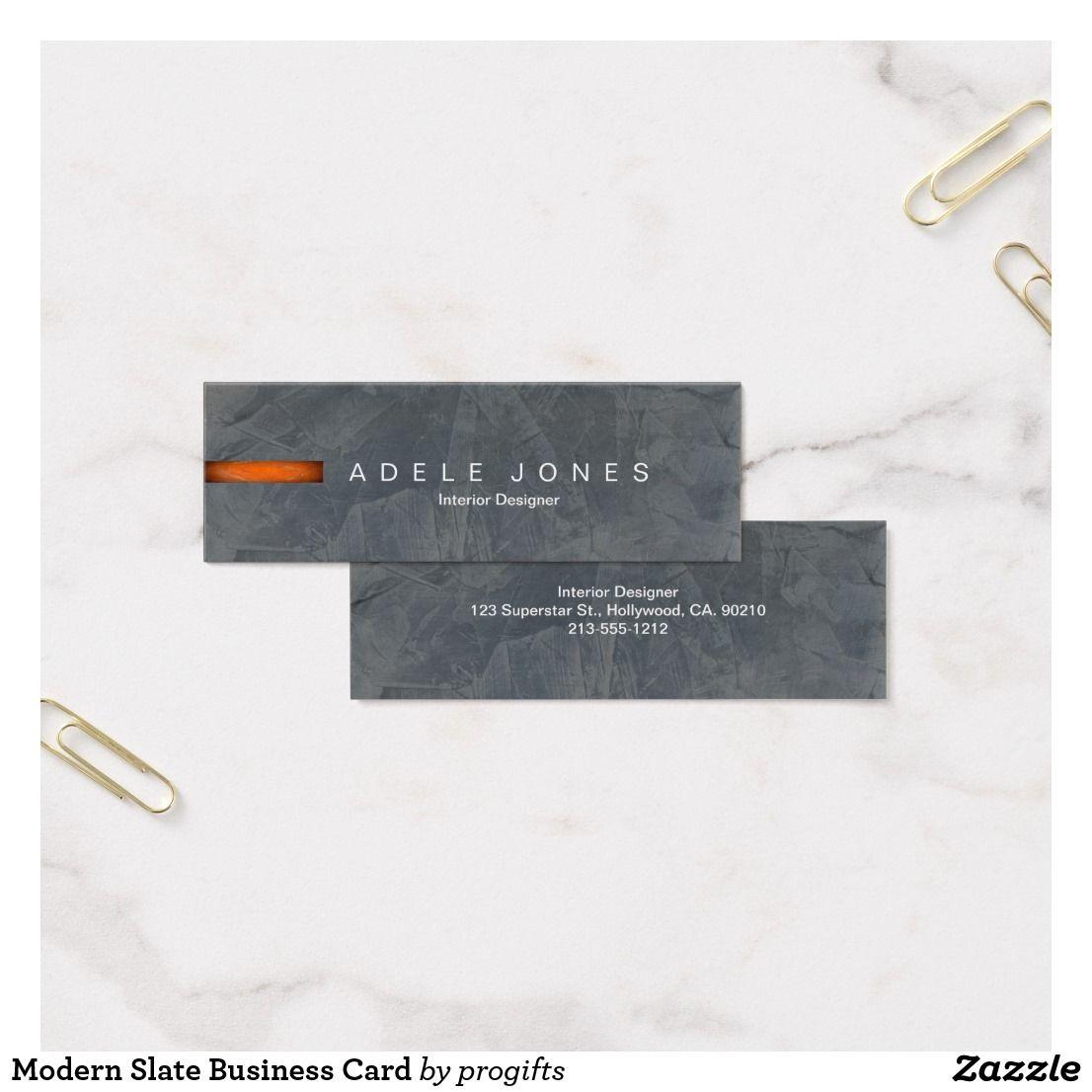 Modern Slate Mini Business Cards. Modern Slate Business Card. Easy ...