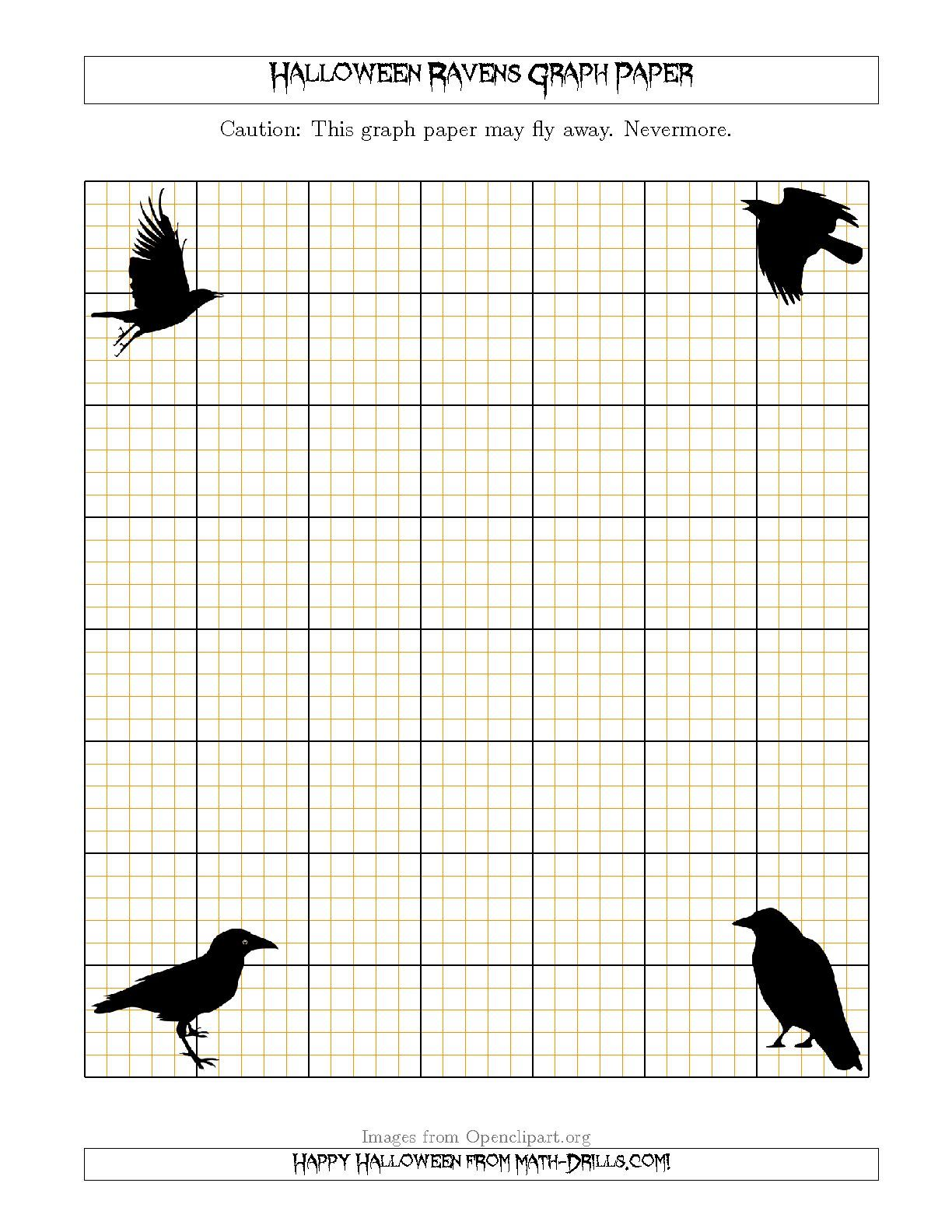 New 09 17 Halloween Ravens 5 Lines Inch Math