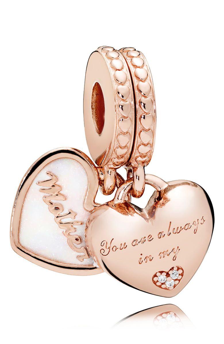 PANDORA Rose Mother & Daughter Hearts Charm   Nordstrom   Pandora ...