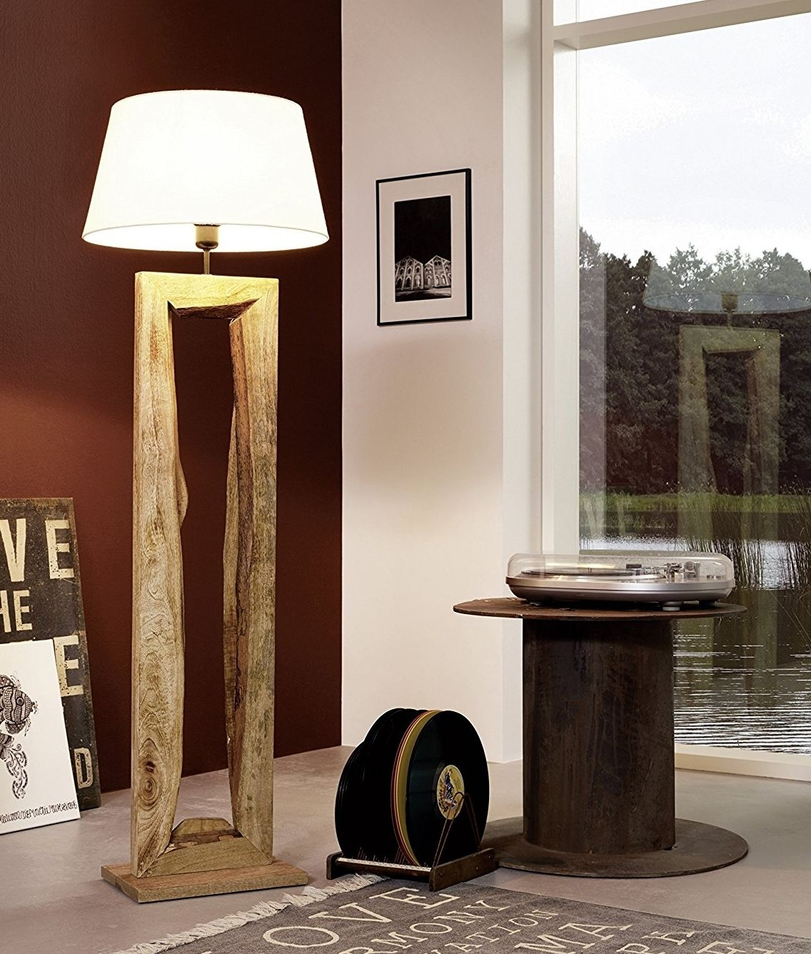 Rustic Driftwood Wooden Floor Lamp With Shade Wooden Lamps Design Wooden Floor Lamps Diy Floor Lamp