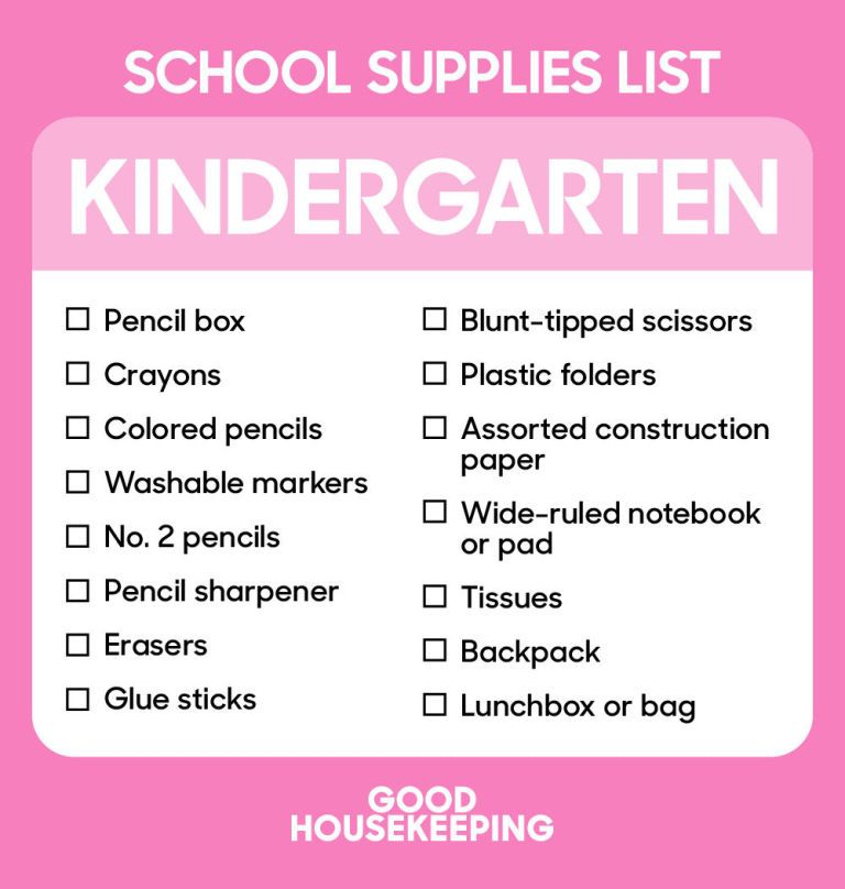 The Ultimate BackToSchool Shopping Lists From Kindergarten To
