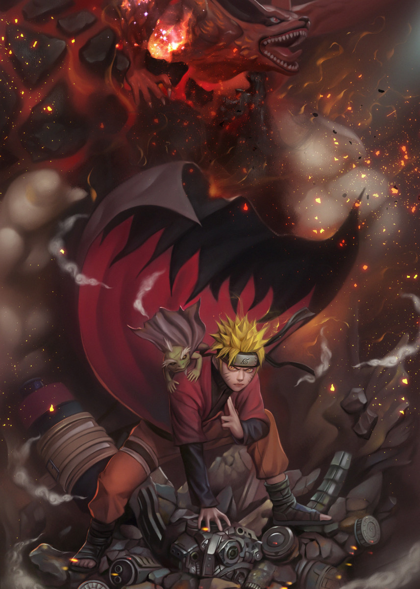 Naruto Uzumaki Anime Manga Poster Print By Moonfanatix Displate In 2020 Wallpaper Naruto Shippuden Naruto Sage Anime