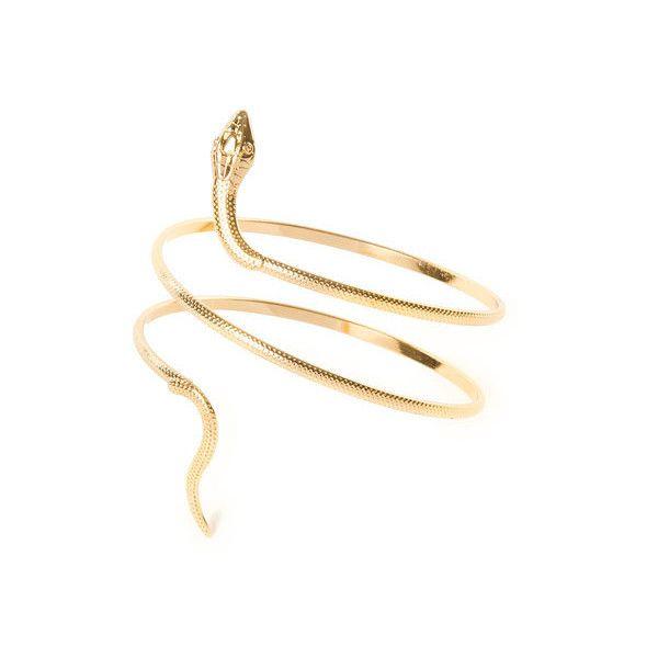 Or 2 Pi/èces Bracelet de Manchette de Serpent en M/étal Bracelet de Serpent Sup/érieur Spirale Punk pour Femmes