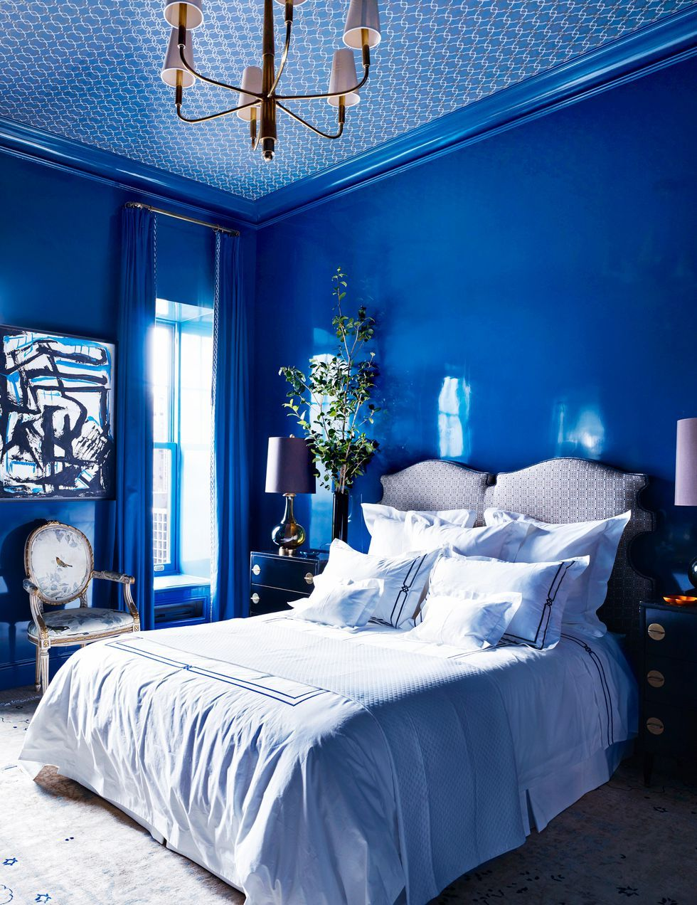 27 Lovely Bedroom Colors That Ll Make You Wake Up Happier Best Bedroom Colors Bedroom Color Schemes Blue Bedroom