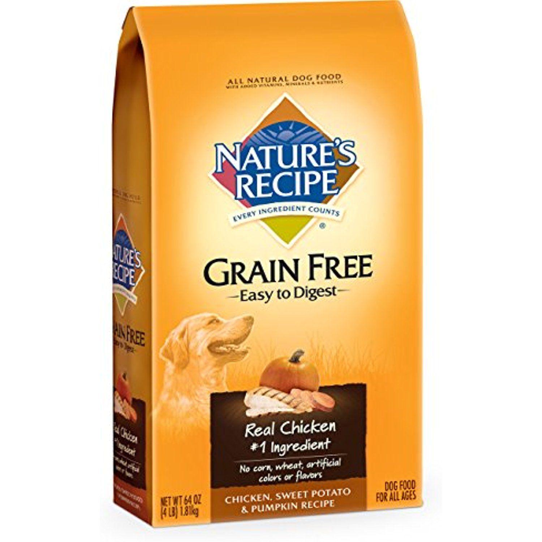 Nature S Recipe Grain Free Easy To Digest Chicken Sweet Potato Pumpkin Recipe Dry Dog Food 4 Pound Do Dry Dog Food Grain Free Dog Food Premium Dog Food