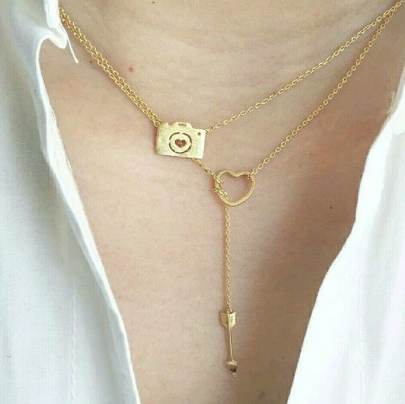 """Must Have Camera Necklace New Gold Necklace size 18"""" approx Jewelry Necklaces"""