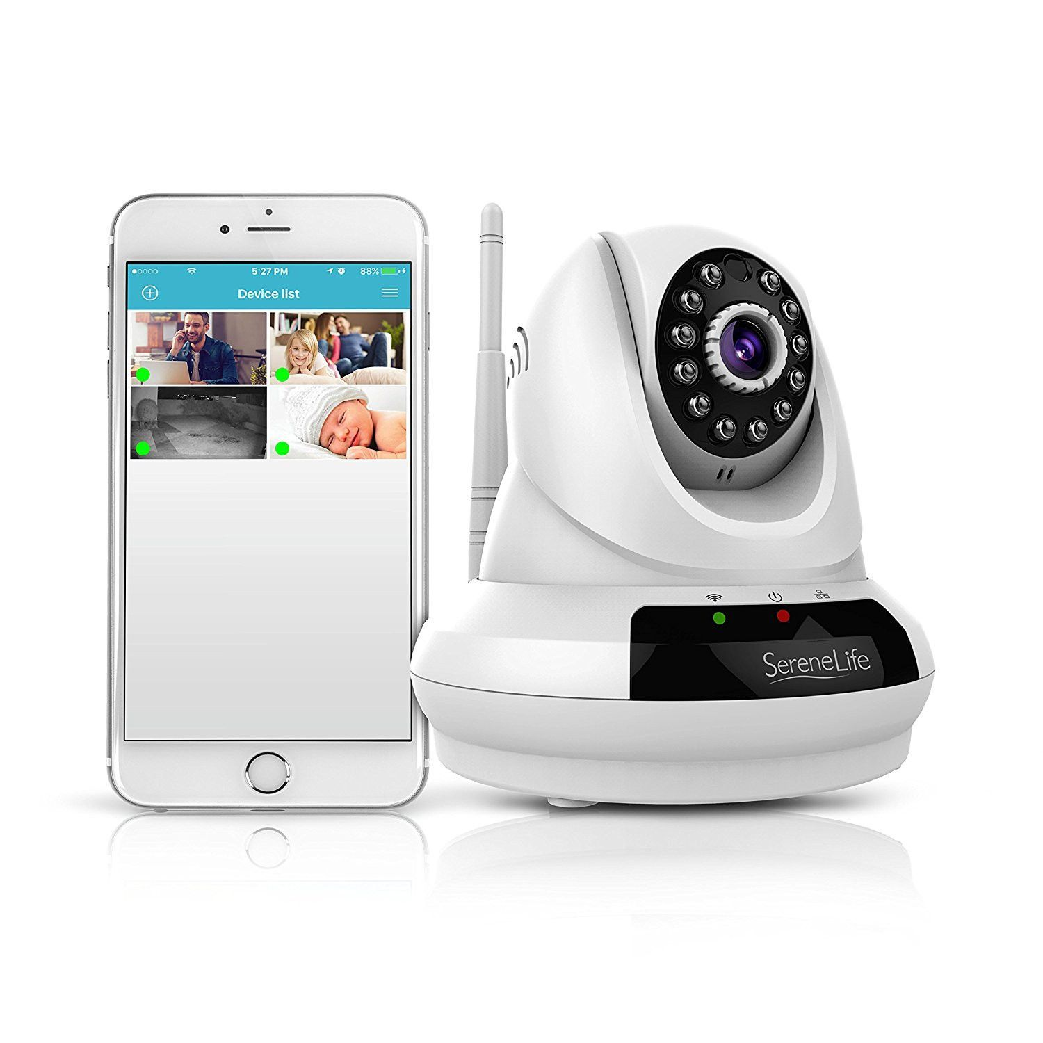 SereneLife Wireless Home Security p HD IP Camera with Remote