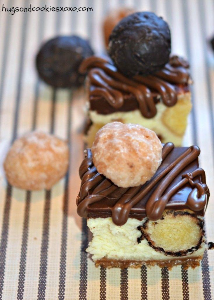 Donut cheesecake bars