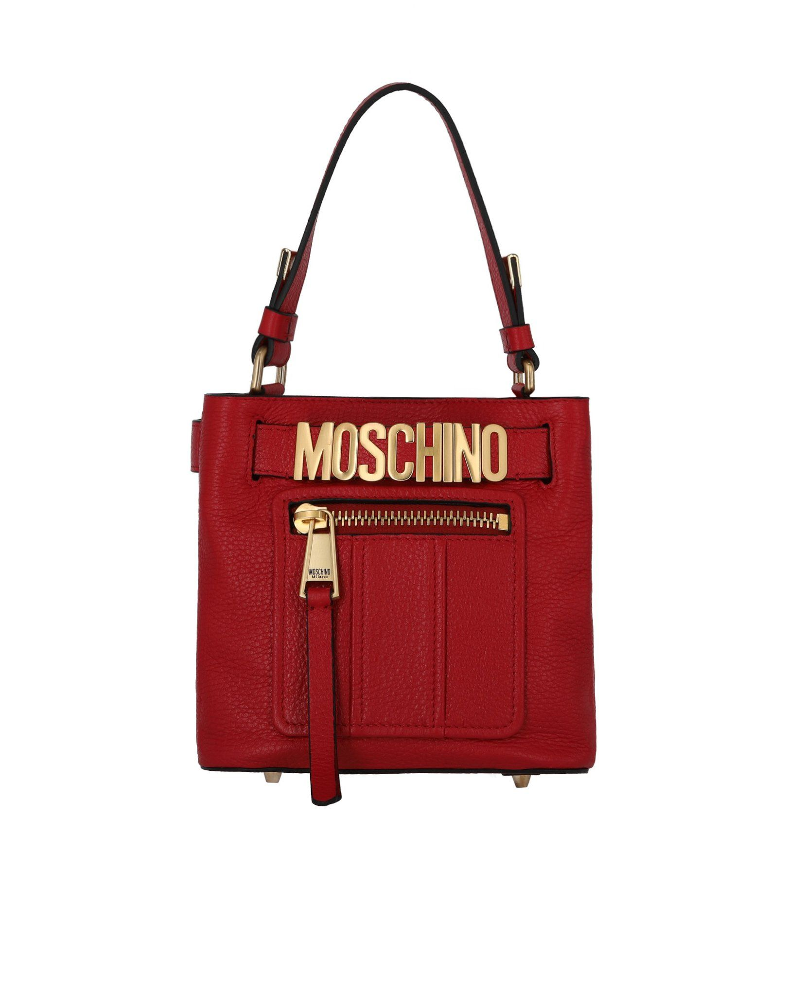 9a619795df Moschino Convertible Leather Shoulder Bag