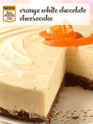 Orange White Chocolate Cheesecake Chocolate Orange Cheesecake Desserts Cheesecake Recipes