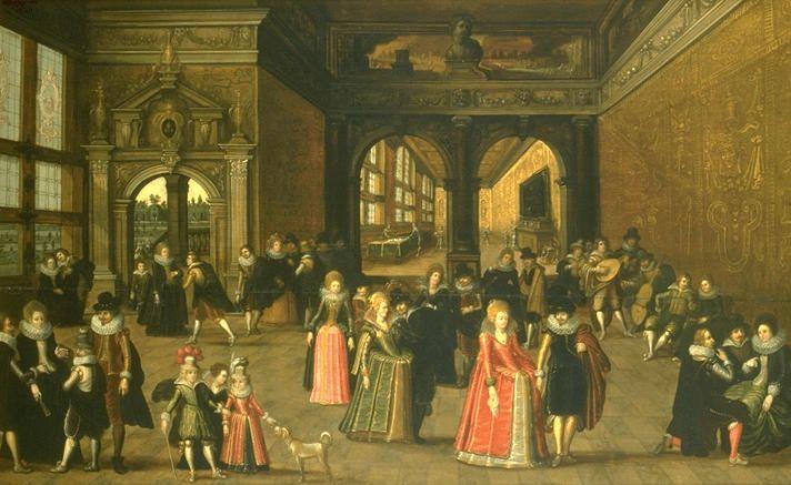 RENAISSANCE PAINTING 16TH  Caullery, Louis de  Ball during the reign of King Henri IV. Canvas  Musee des Beaux-Arts, Rennes, France