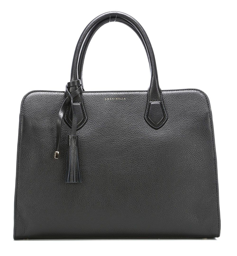 Coccinelle London Handtasche Leder schwarz 36 cm ...