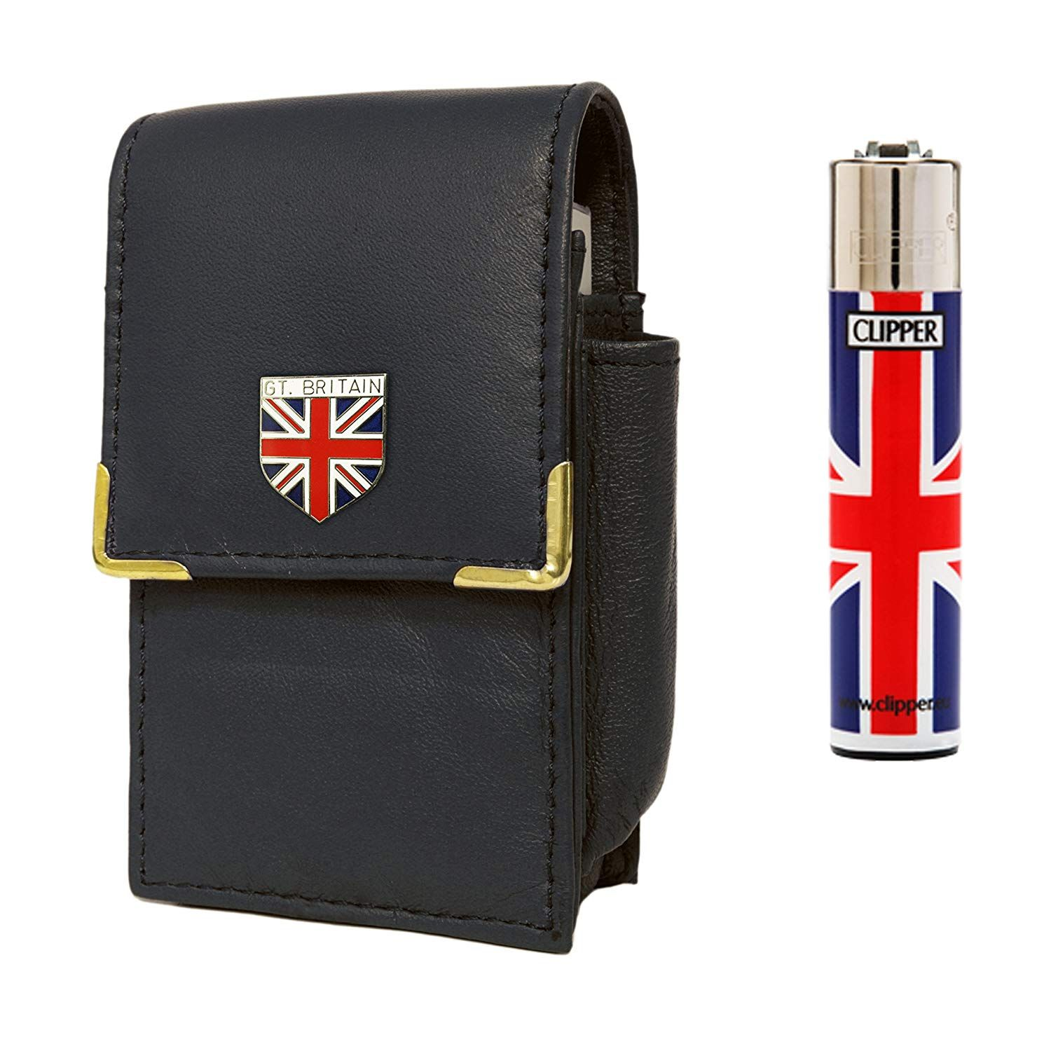 736144c5d7ef Great Britain Union Jack cigarette packet holder and Clipper gas lighter   Amazon.co.