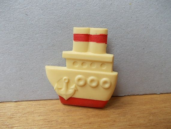 Vintage Pin Ship / Soviet Badge / Vintage Brooch / by EUvintage, $4.00