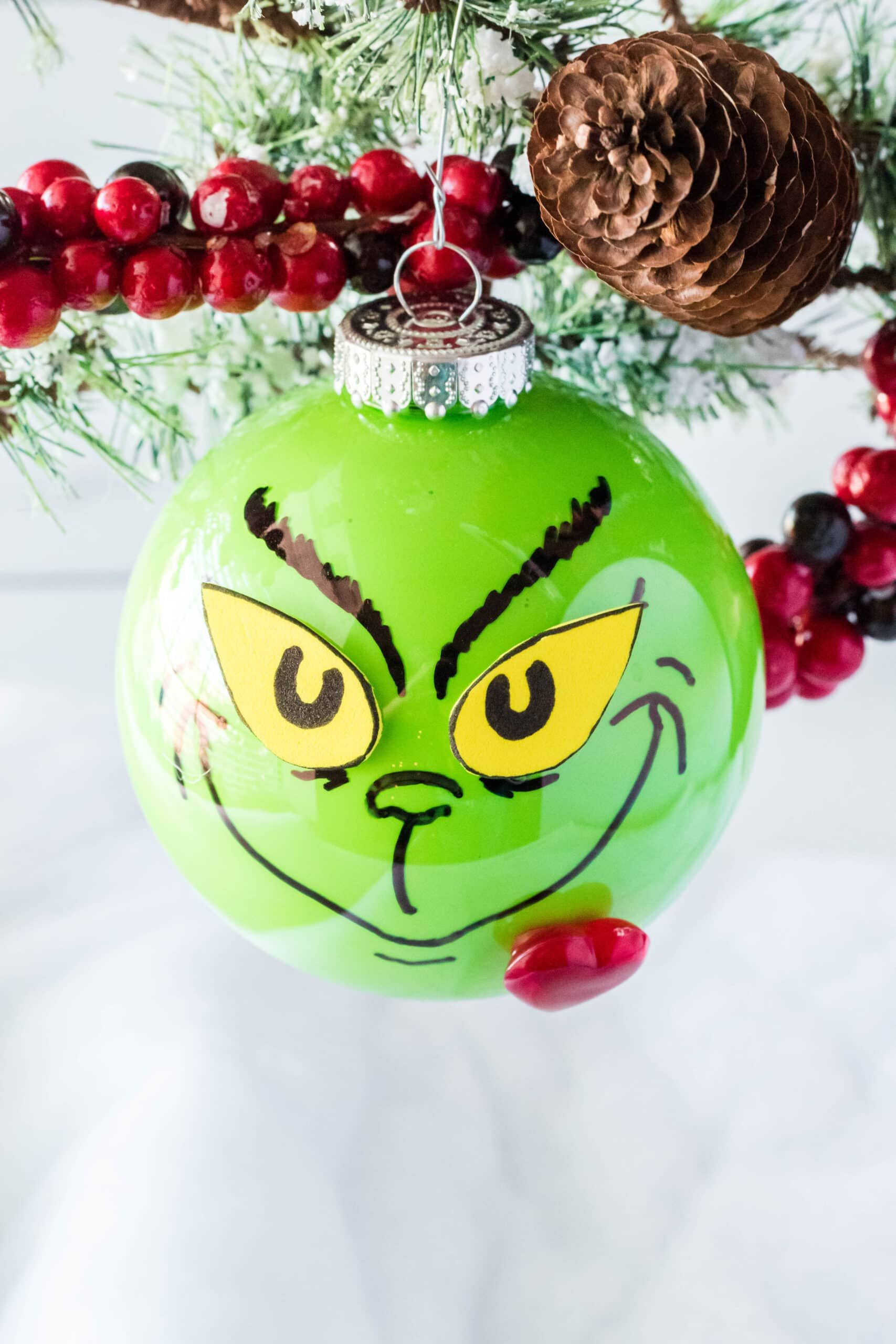 The Best Grinch Ideas Simplistically Living Grinch Ornaments How To Make Ornaments Christmas Crafts For Gifts