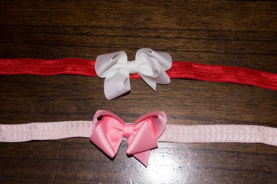 Two Valentine's headbands for newborn to by LeighsBabyBoutique, $5.00
