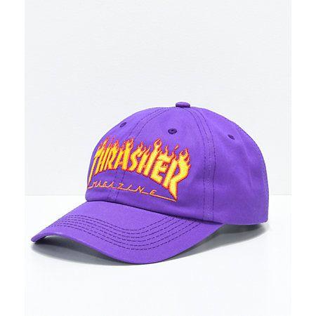 e5d0bf97503 Thrasher Neckface Invert Old Timer White Strapback Hat