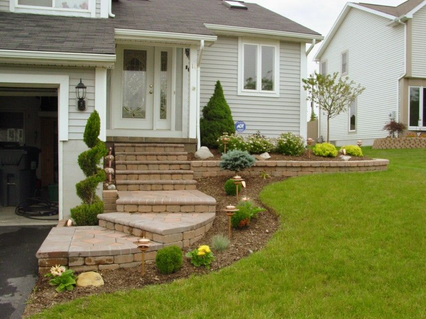 Image Result For Front Steps Landscaping Ideas Front Stairs