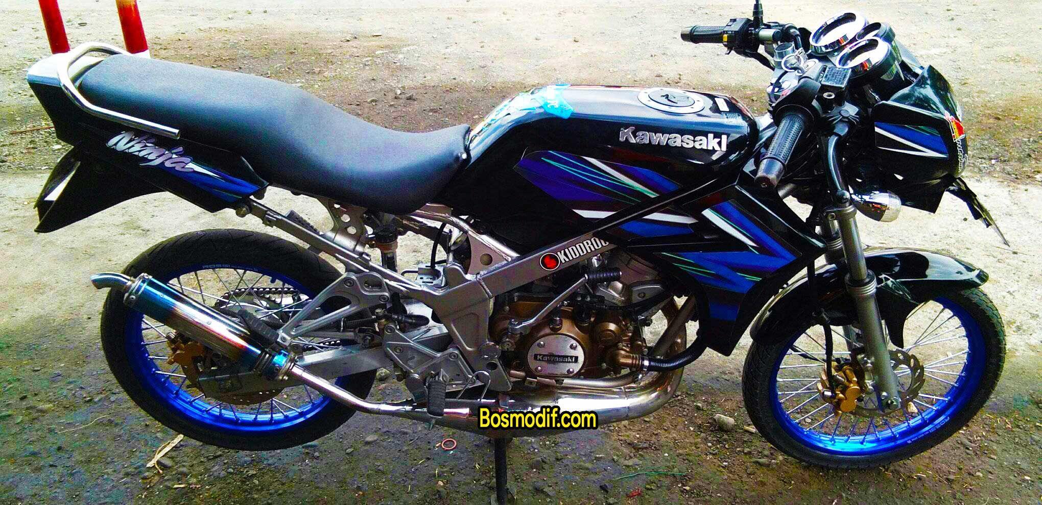 Download Ide 64 Modifikasi Motor Ninja R Warna Hitam Terkeren