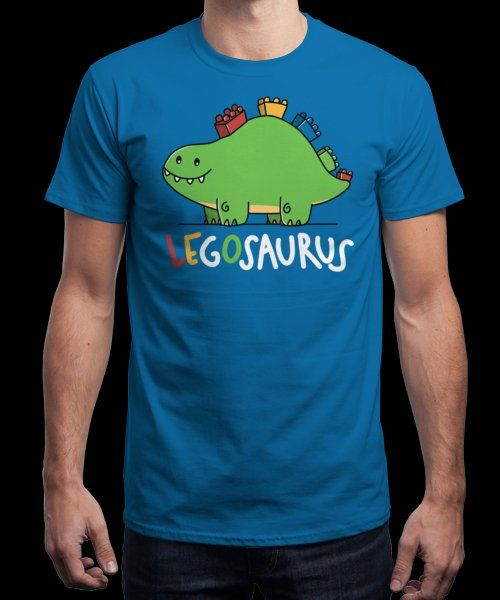 """""""LEGOsaurus"""" is today's £9/€11/$12 tee for 24 hours only on Pin this for a… 