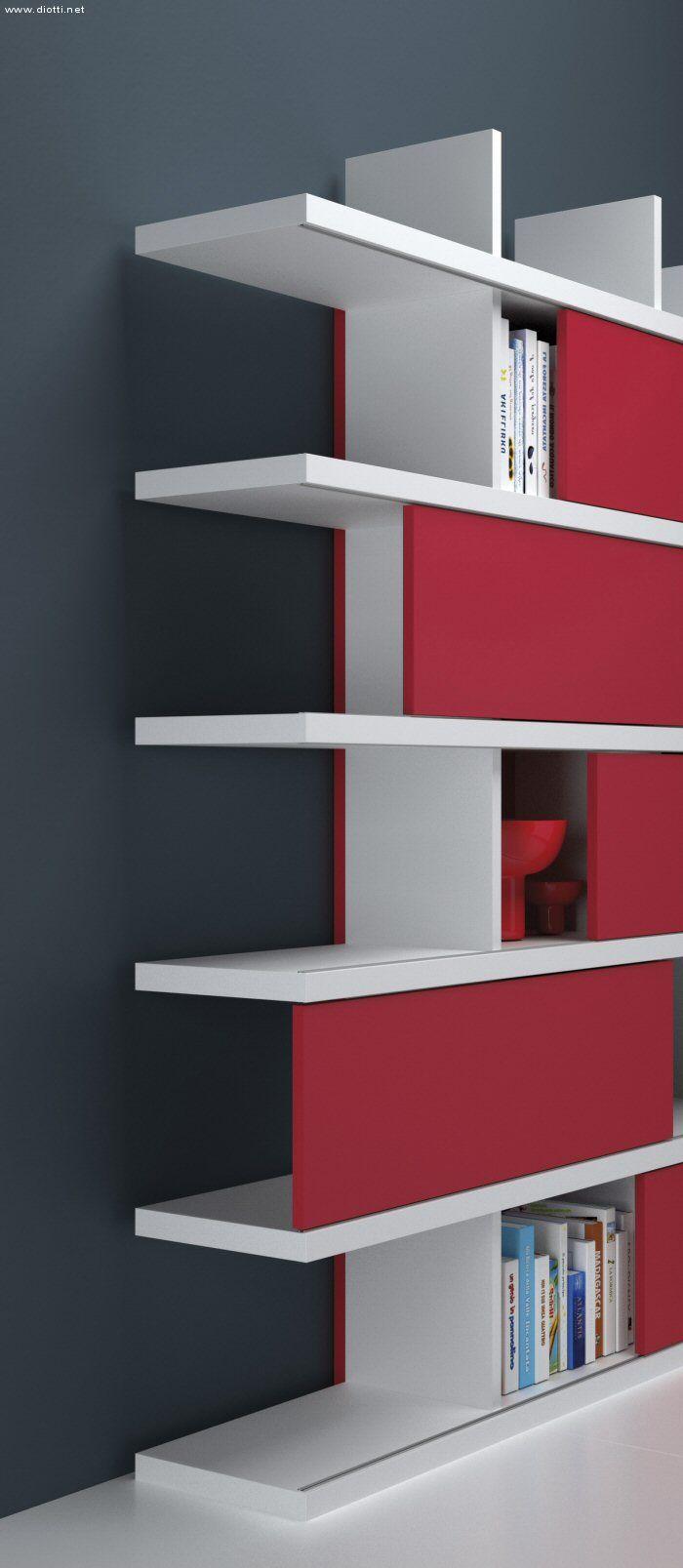 Ecco il particolare costruttivo della libreria con il ...