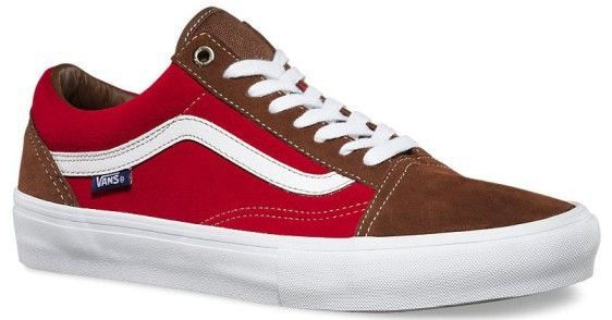 6032425abe Vans Men s Old Skool Pro Shoes - Potting Soil   Jester Red ...
