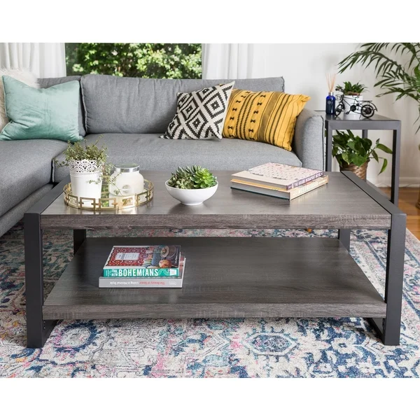 Angelo Home 48 Coffee Table 48 X 24 X 18h Grey Middlebrook