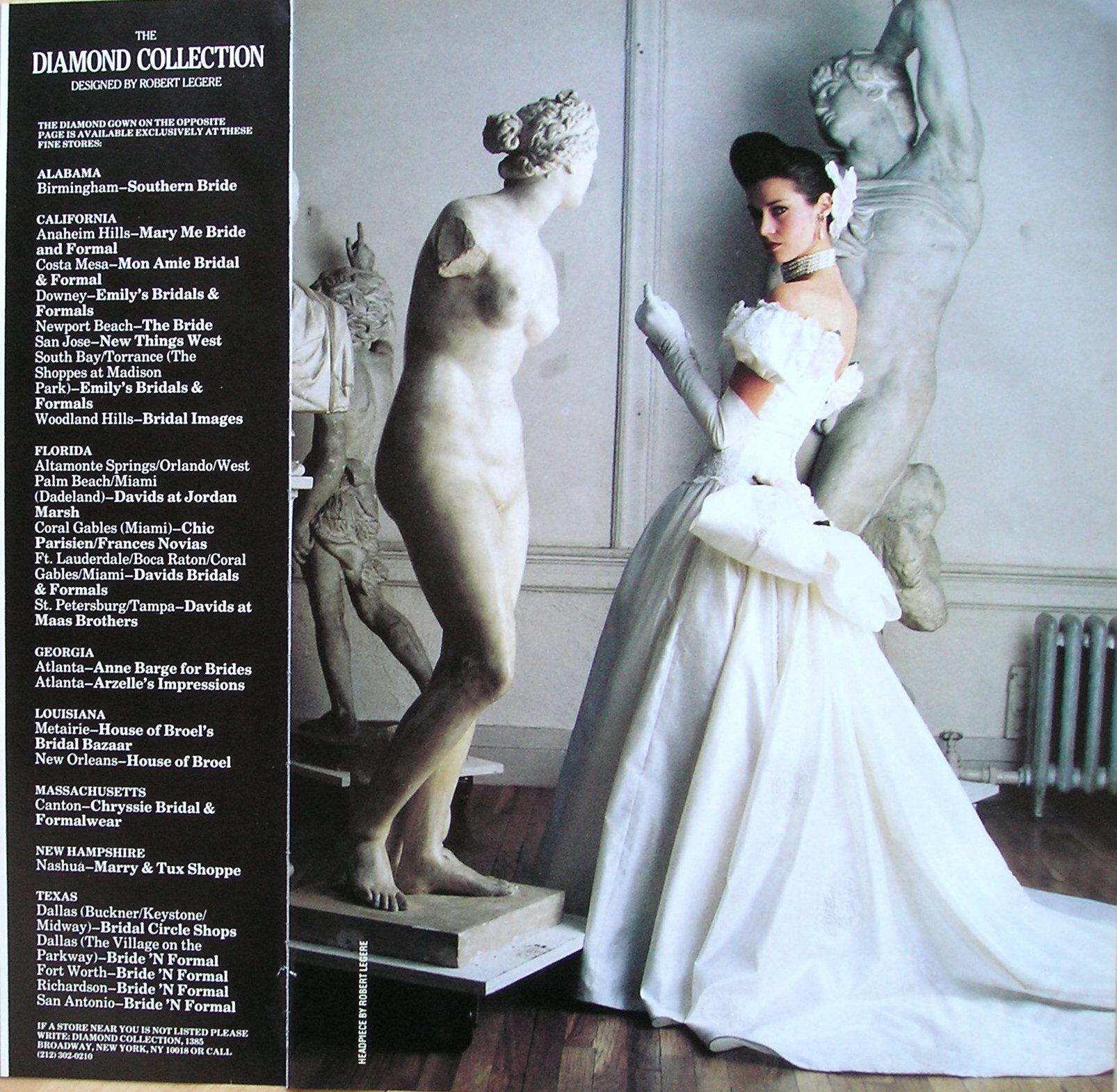 my wedding dress, 1987 Robert Legere for the Diamond