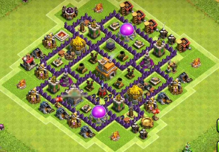 Best Th7 Farming Base Base Coc Th 7 Defense Terbaik 1