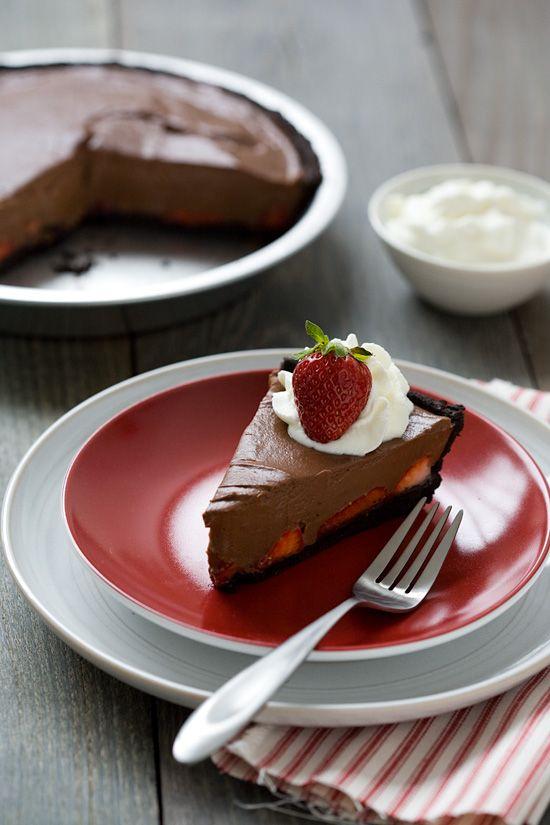 Chocolate Strawberry Oasis Pie