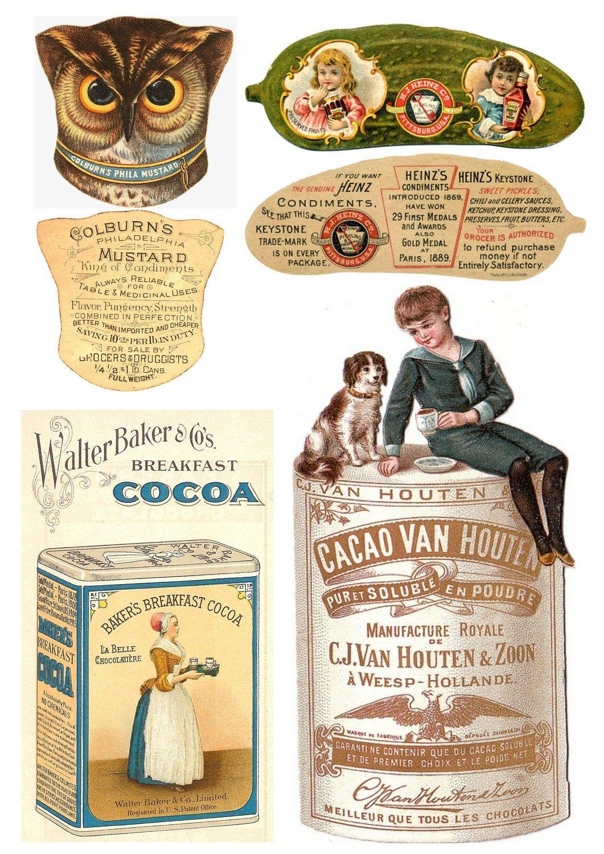 Vintage Food Medicine Labels 1 12 Scale Labels Mini