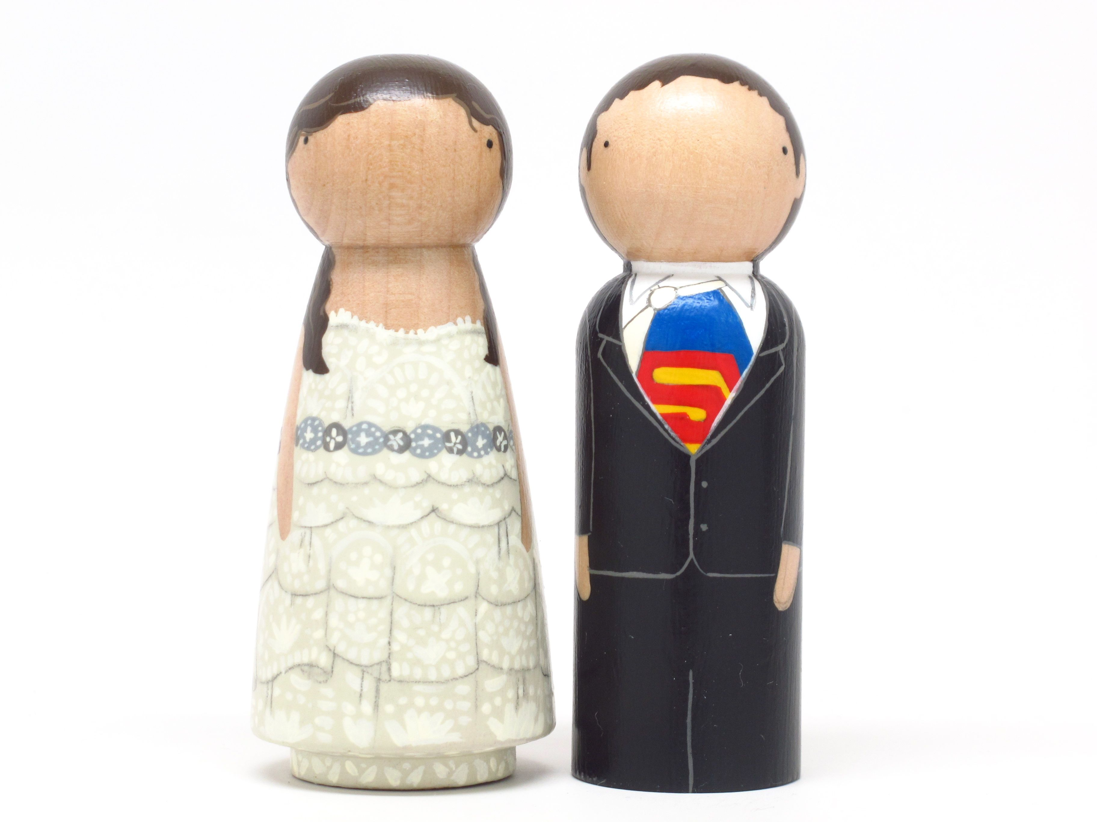 Superman Wedding Cake Toppers_Goose Grease | Severina Kids || Wooden ...